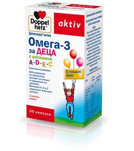 Допелхерц Актив Омега-3 за Деца капсули x30 (Doppelherz Omega-3 Kids)